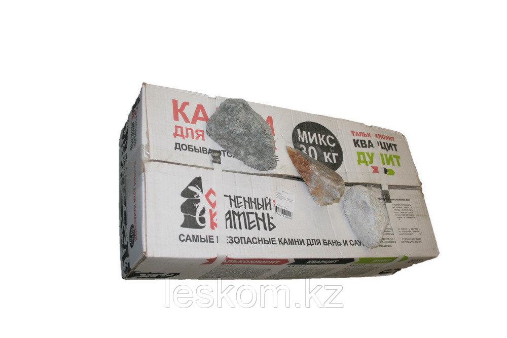МИКС  камни  (талькохлорит, дунит, кварцит) 30кг