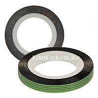 Декоративная самоклеющаяся нить-скотч для дизайна ногтей зеленая (лента для ногтей)