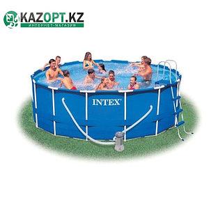 Бассейн каркасный круглый Intex 305х76 см (в комплекте: насос с фильтром 220V), фото 2