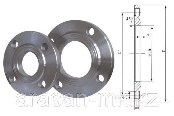 Фланцы стальные приварные Ру16 Ду50 ГОСТ 12820-80