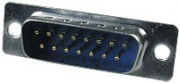 DB-15M вилка 15 pin пайка на кабель, разъем