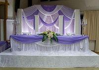 Оформление зала текстилем, шарами