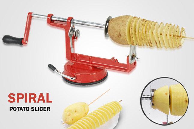 Овощерезка для нарезки спиральных картофельных чипсов , фото 2