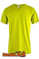 Салатовая футболка с V-образным вырезом, фото 1