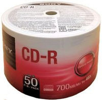 ДИСК CD-R Sony 700 MB CDQ80SB  50 шт  700 MB CDQ80SB