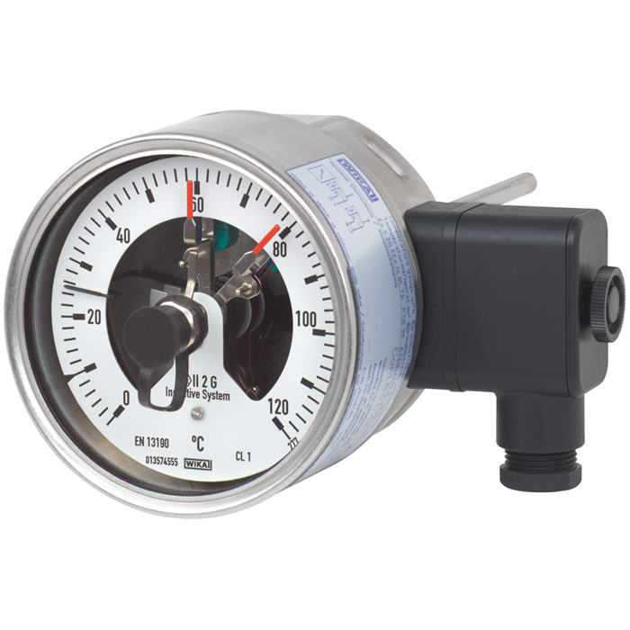 Модель 55-8xx биметаллический термометр с электроконтактами WIKA
