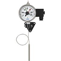 Модель 70-8xx манометрический термометр с микропереключателем и капилляром WIKA