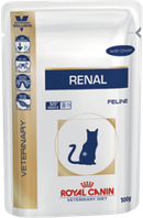 Влажный корм для кошек поддерживающий функцию почек Royal Canin RENAL CHICKEN CAT POUCH (курица)