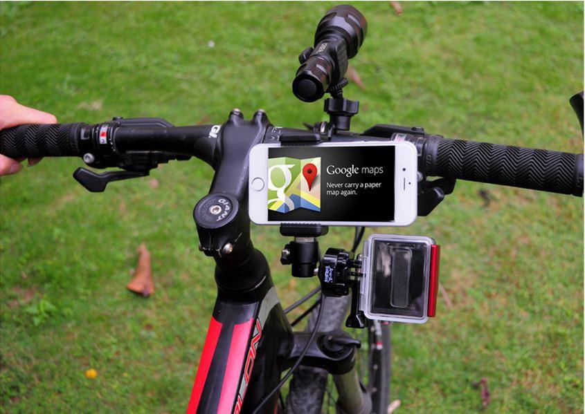 Универсальное крепление на руль 3 в 1. Смартфон+фонарь+GoPro 5/4/3+/3/SJCAM/Xiaomi