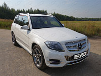 Пороги труба  Mercedes-Benz GLK 220 CDI 4MATIC 2012-2015