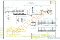 Стойка передняя Тойота LAND CRUISER PRADO 120/4RUNNER/SURF/HILUX 04-09 LH=RH