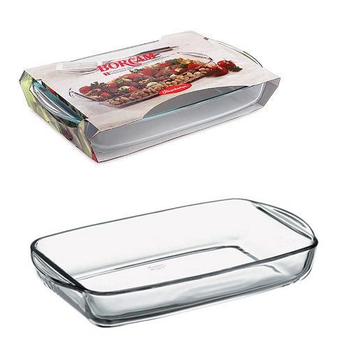 Блюдо для выпечки 2 л., 29 х 19 см, из жаропрочного стекла с ручками BORCAM