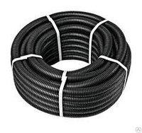 Труба гофрированная ПНД легкая с протяжкой 32 мм (черная) (50)м