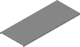 Крышки прямой секций оцинкованные L=3000мм с поворотными замками(ОПВ)
