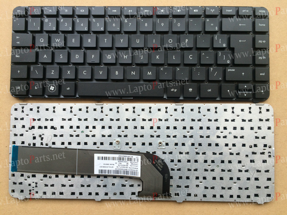 Клавиатура для ноутбука HP Pavilion DV4-3000/ DV4-4000, ENG, черная