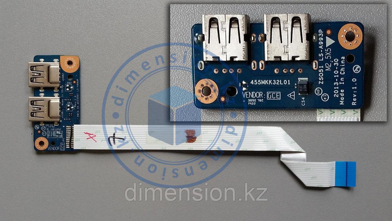 USB плата 455MKK32L01 ZS051 LS-A993P HP 15 R series 15-r000 series 15-r042er