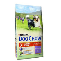 DogChow adult mature для собак старше 5 лет, ягненок, 14 кг