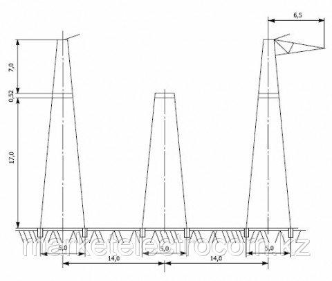 Анкерно-угловые опоры напряжением 500 кВ типа У1, У2