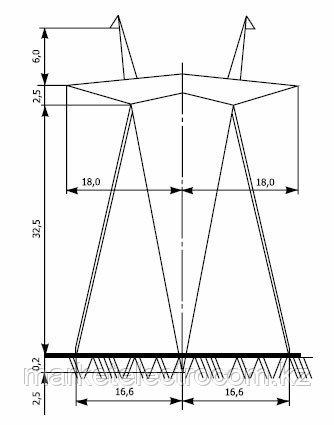 Промежуточные опоры напряжением 750 кВ типа П750