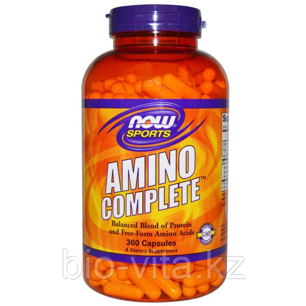 Комплекс аминокислот. Now Foods, Sports, Amino Complete, 360 капсул