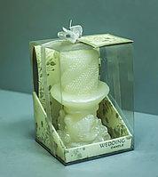 Декоративная свадебная свеча в упаковке