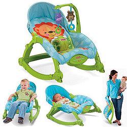 """Шезлонг кресло качалка """"Deluxe 2в1"""" Fisher price"""