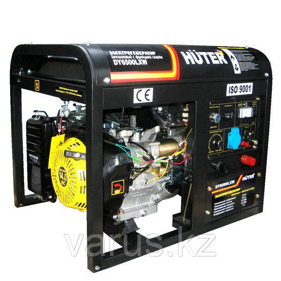 Электрогенератор бензиновый DY6500LXW c функцией сварки, с колесами