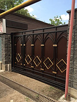 Установка консольных ворот