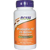Пробиотик 10 штаммов 25 млрд. в 1 капсуле. 100 шт.   Now Foods