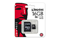 Карта памяти MicroSD 16GB Class 10 U1 Kingston SDC10G2/16GB