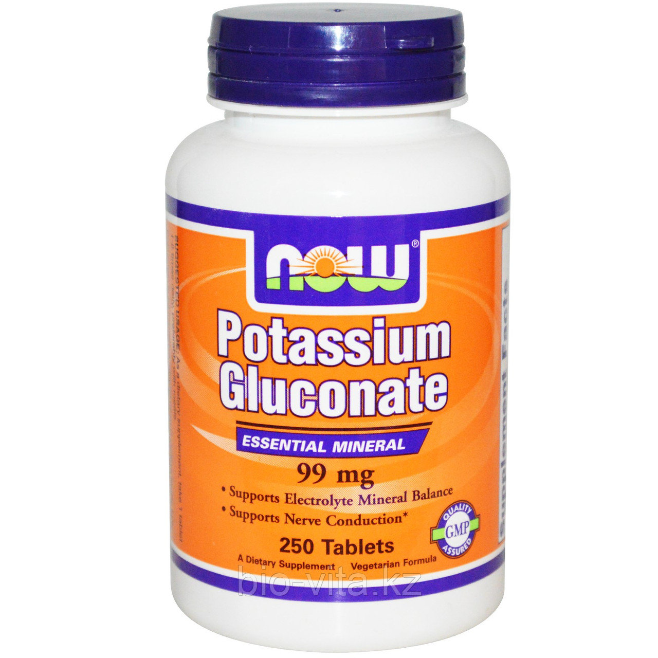 Глюконат калия, 99 мг, 250 таблеток. Now Foods