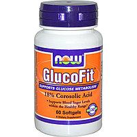 Глюкофит,(Снижение уровня сахара в крови) 60 мягких желатиновых капсул. Now Foods