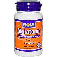 Мелатонин, 3 мг, 60 капсул. Now Foods, фото 1