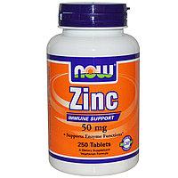 Цинк (глюконат), 50 мг, 250 таблеток. Now Foods