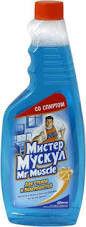 """Очиститель стекла """"Мистер Мускул"""" 500 мл, запаска"""