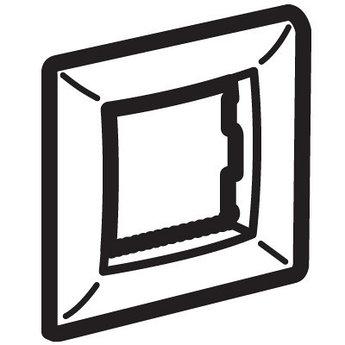 Рамка на 2 модуля (одноместная), черная