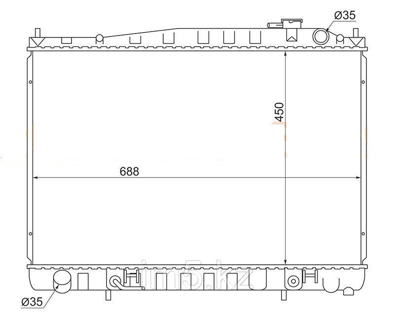 Радиатор NISSAN GLORIA/CEDRIC Y33 95-99