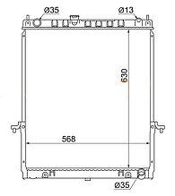 Радиатор  NISSAN PATROL/SAFARI Y61 97-10