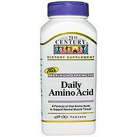 Аминокислоты для ежедневного приема, максимальная сила, 120 таблеток. 21st Century