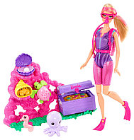 Кукла Барби карьера дайвера Barbie I Can Be Ocean Treasure Explorer Doll Playset