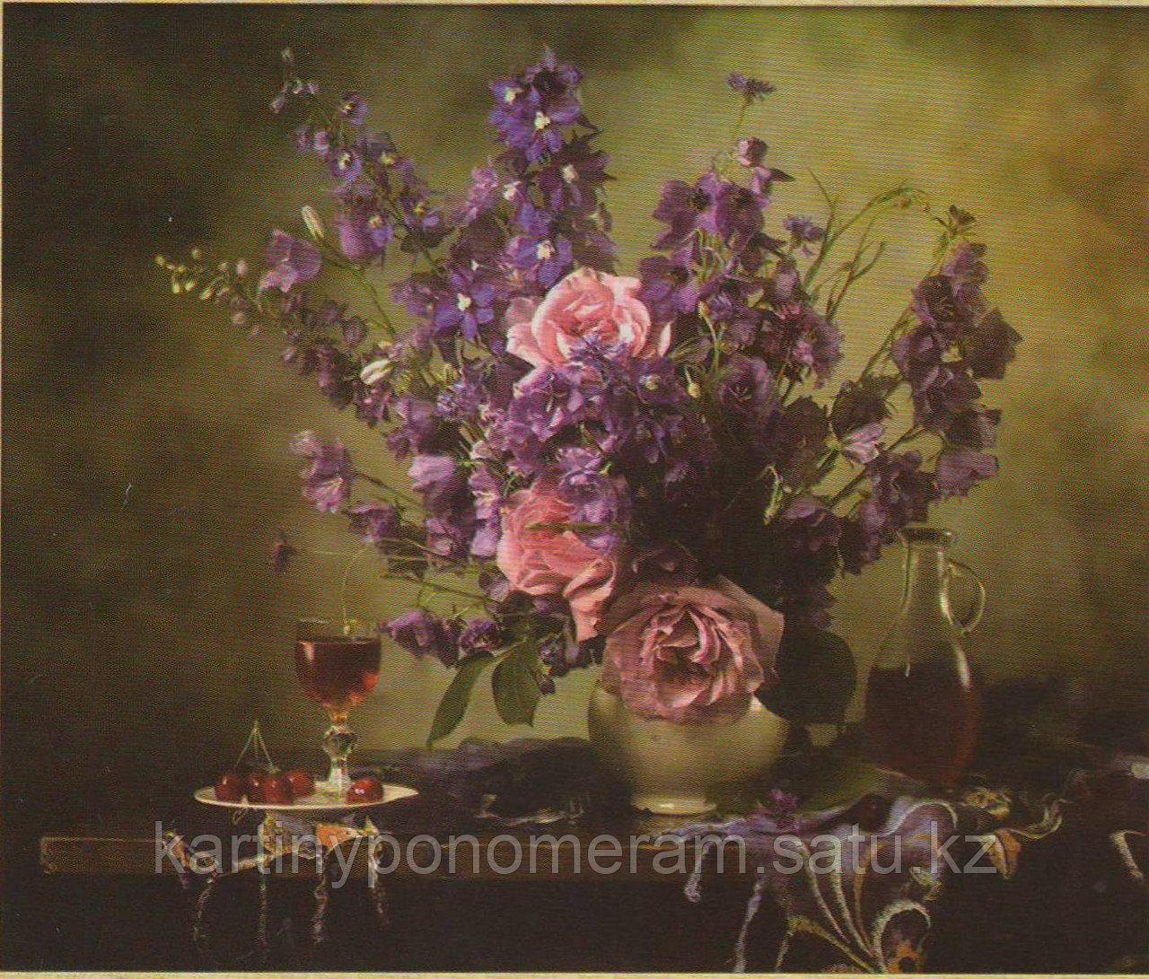 """Набор для вышивания бисером """"Розы и колокольчики"""" арт.506, 36х30 см"""