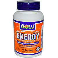 Энергия, Гуарана 280 мг.  90 капсул. Now Foods