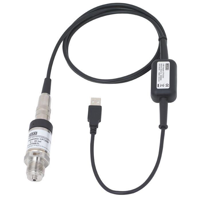 Модель CPT2500 USB преобразователь давления WIKA