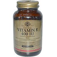 Витамин Е, 400 МЕ, 100 капсул.  Solgar