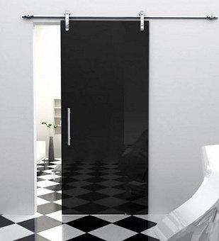 стеклянные раздвижные и распашные двери  9