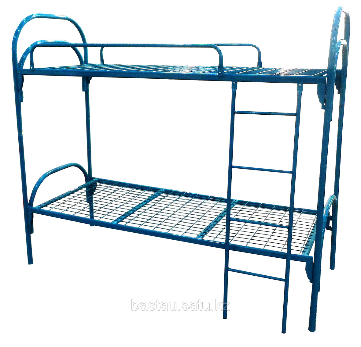 Кровать металлическая двухъярусная с ограждение