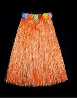 Юбка  гавайская с цветами 79 см (оранжевая)