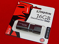 USB Флеш 16GB 3.0 Kingston DT100G3/16GB черный
