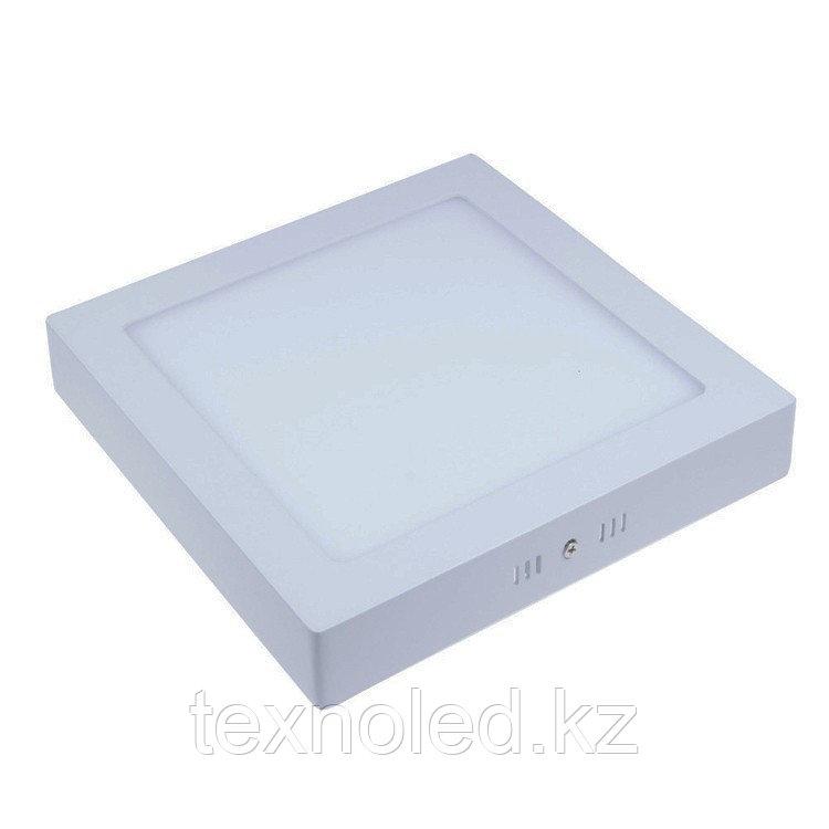Светодиодный светильник  12W квадратный накладной