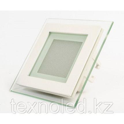 Потолочный светильник квадратный 12W со стклом, фото 2